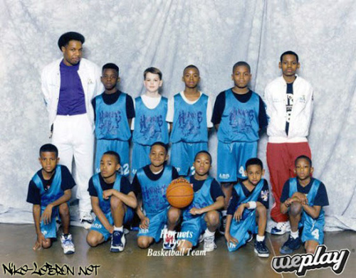 Throwback Thursday!!!! Lebron James Middle School Team ...