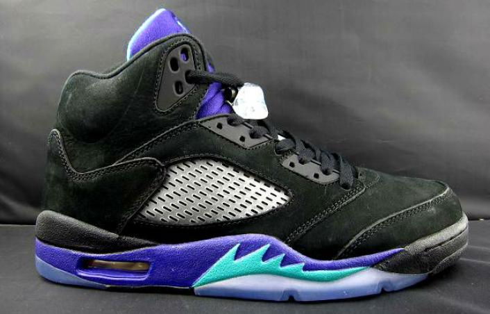 "f168fbf96449 The majority of Jordan Brand s 2013 Holiday collection has been revealed  and one of the main highlights is the new ""Black Grape"" Air Jordan 5."